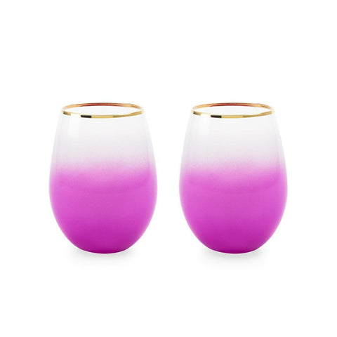Stemless Wine and Cocktail Sodalime Glasses Set of 2