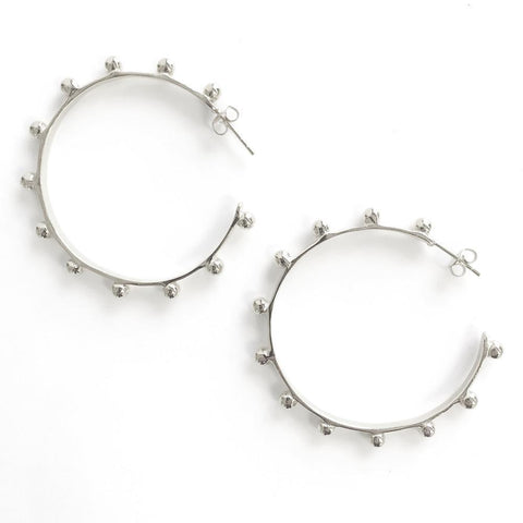 Sterling Silver Hardin Large Hoops