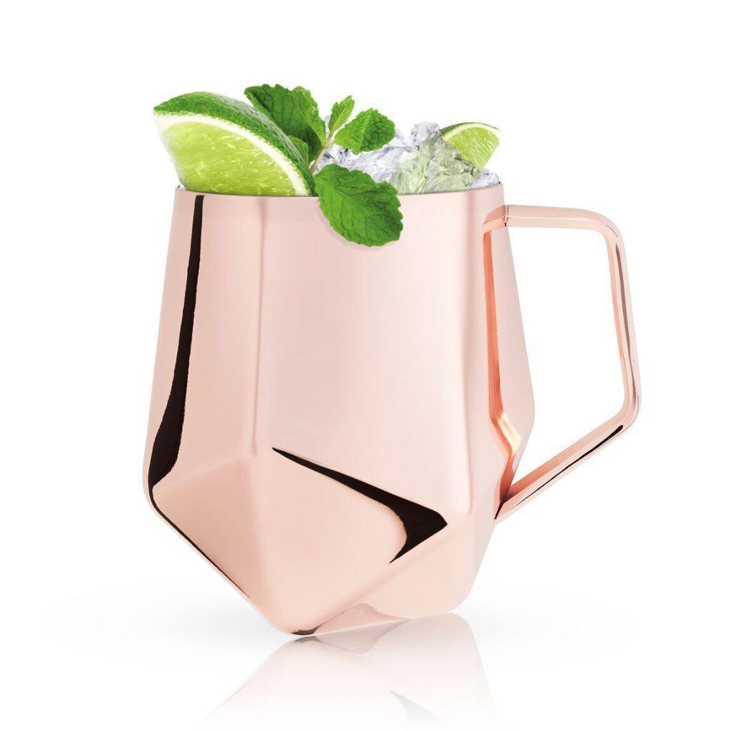 Summit Faceted Moscow Mule Mug-Home - Entertaining - Cocktail Glasses-VISKI-Peccadilly