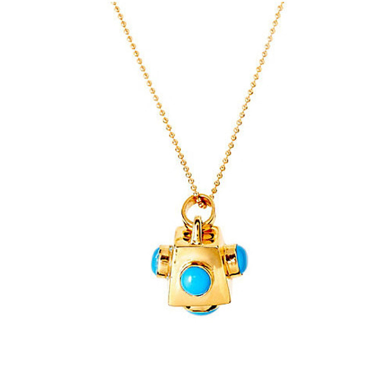 Cutchins Genuine Gemstone 24kt Gold Necklaces-women - jewelry - necklaces-ADDISON WEEKS-Blue Turquoise-Peccadilly