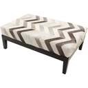 Trail Handstitched Natural Hide Bench or Ottoman-Home - Furniture - Benches-SURYA-Chevron-Peccadilly