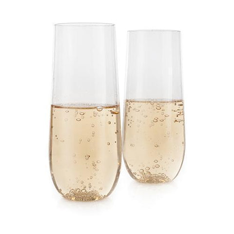 True Flexi Stemless Unbreakable Champagne Flute Set