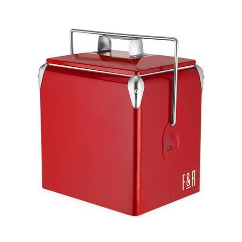 Vintage Metal Coolers-Home - Travel + Outdoors - Insulated Beverage Carriers-FOSTER AND RYE-Red-Peccadilly