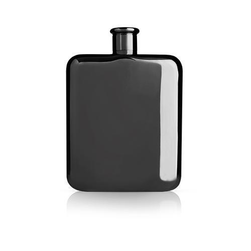 Warren Gunmetal Black Flask-Home - Entertaining - Flasks-VISKI-Peccadilly