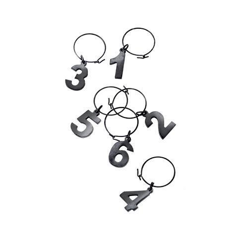 Warren Gunmetal Black Wine Charms-Home - Entertaining - Drink Markers-VISKI-Peccadilly