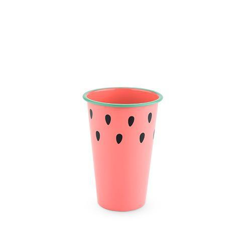 Watermelon Pint Glass-Home - Entertaining - Beer Glasses-BLUSH-Peccadilly