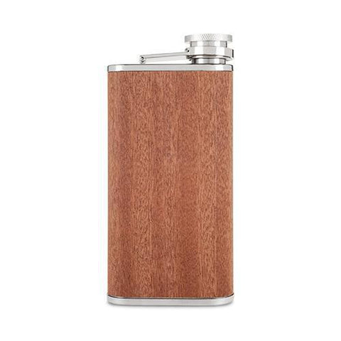 Wood Veneer and Stainless Steel Flask