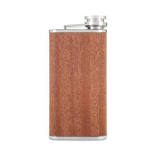 Wood Veneer and Stainless Steel Flask-Home - Travel + Outdoors - Flasks + Growlers-FOSTER AND RYE-Peccadilly