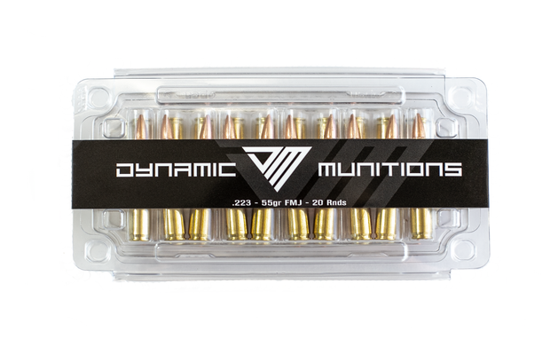 223 55GR FMJ New - Dynamic Munitions 308 Brass, shooting accessories, long range shooting, 223 rounds, bulk ammo, 223 shells, chrome moly, 308 once fired brass, shooting bags 223 rem, 5.56