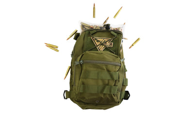 Range Bag OD Green 250rds 55gr .223 - Dynamic Munitions 308 Brass, shooting accessories, long range shooting, 223 rounds, bulk ammo, 223 shells, chrome moly, 308 once fired brass, shooting bags 223 rem, 5.56