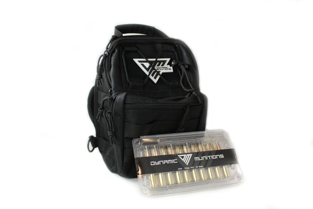 308 Ammo Bag with DM Grunt Style T-Shirt - Dynamic Munitions 308 Brass, shooting accessories, long range shooting, 223 rounds, bulk ammo, 223 shells, chrome moly, 308 once fired brass, shooting bags 223 rem, 5.56