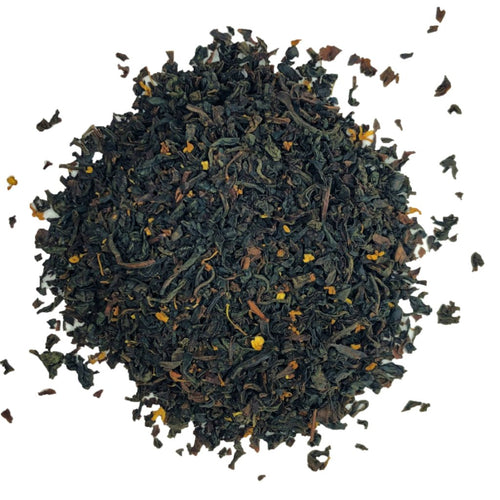 organic cream earl grey black tea with Osmanthus petals