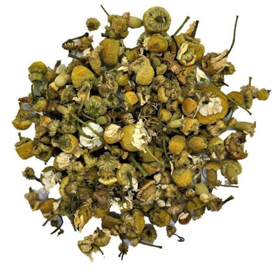 organic chamomile blossoms herbal tea