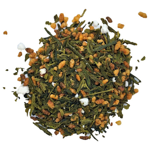 Genmaicha Green tea with popped and roasted rice