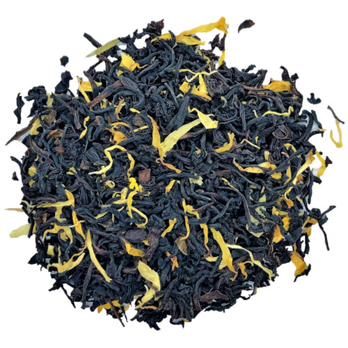 maple black tea with calendula and sunflower petals