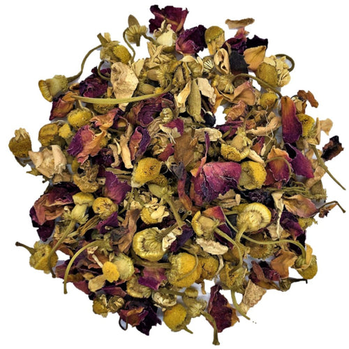 spa blend tea with Organic chamomile, ginger and rose petals