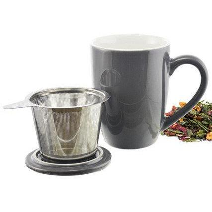ceramic tea cup with infuser