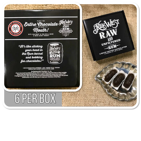 Raw and Unfiltered Rum Filled Chocolates 6 Pack