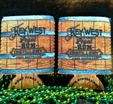 Rum Barrel Beer Koozie Set of 2