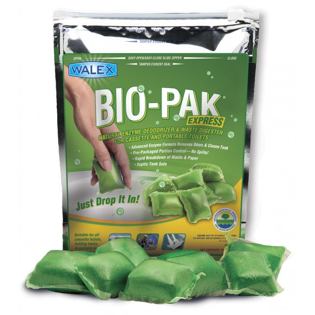 Bio-Pak Express Superior Cassette And Portable Toilet Waste Digester