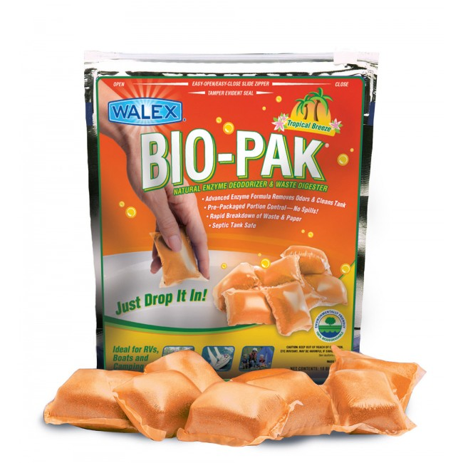 Bio-Pak Express Superior Cassette And Portable Toilet Waste Digester - Tropical Breeze Scent