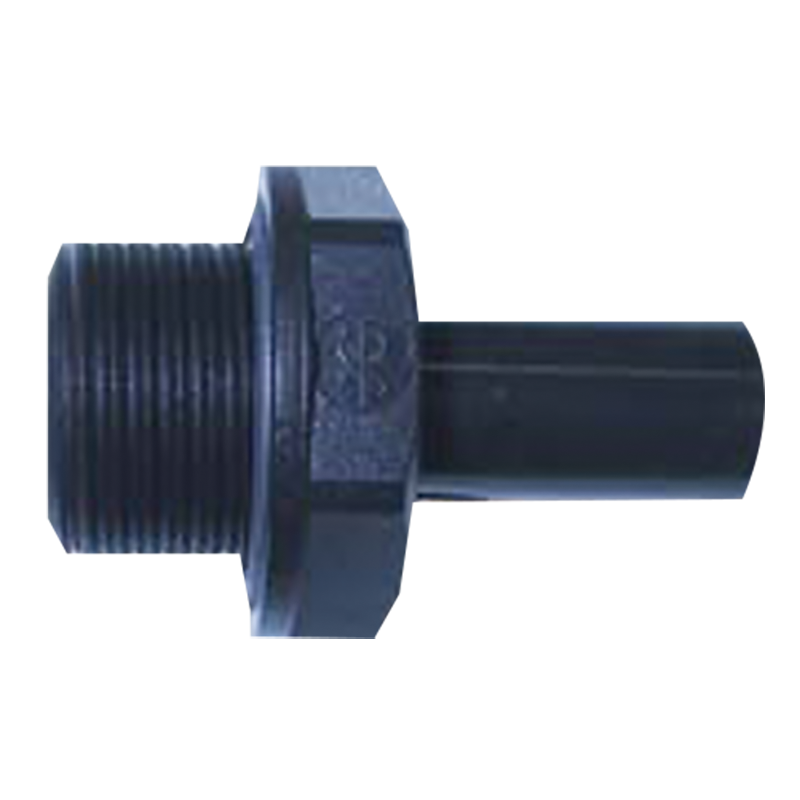 John Guest Plastic 12mm x 1/2 BSP Straight Male Stem Adapter