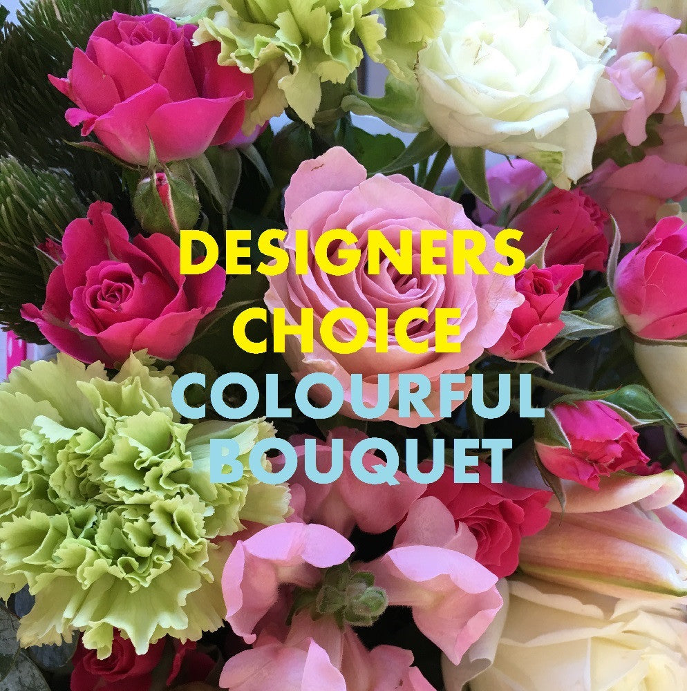 WORLDWIDE DESIGNERS CHOICE - COLOURFUL BOUQUET -$165