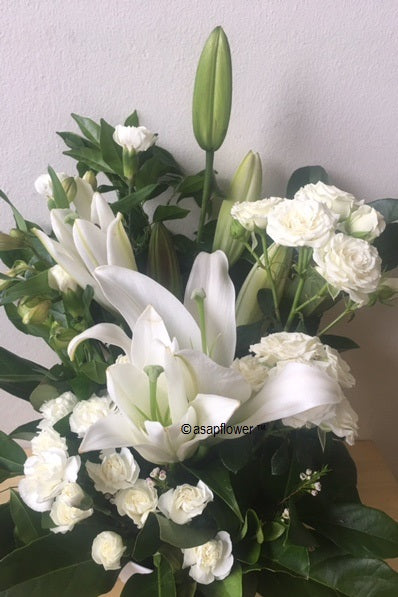 PURITY - All white STYLED bouquet (other colour options)   NEW PRODUCT