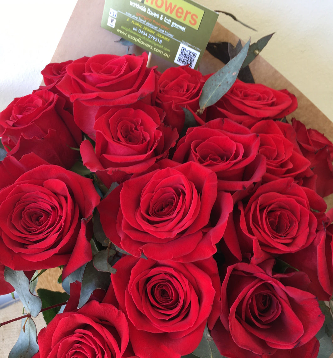 24 red roses for valentines or christmas