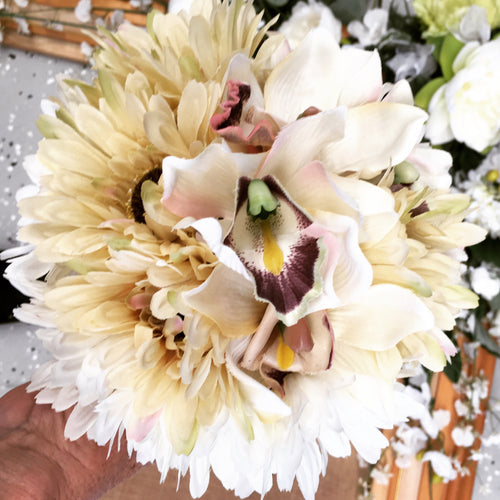 Orchid artificial flower bouquet