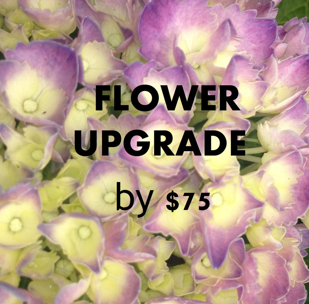 UPGRADE FLOWERS - $75
