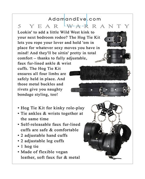 Adam & Eve Eve's Hog Tie Bondage Kit sex toys color blackNakees