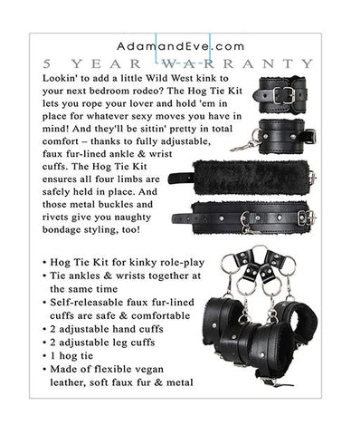 Adam & Eve Eve's Hog Tie Bondage Kit-sex toys-Adam & Eve-black-Nakees