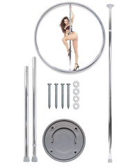 Adjustable Dance Pole-sex toys-Pipedream-silver-Nakees