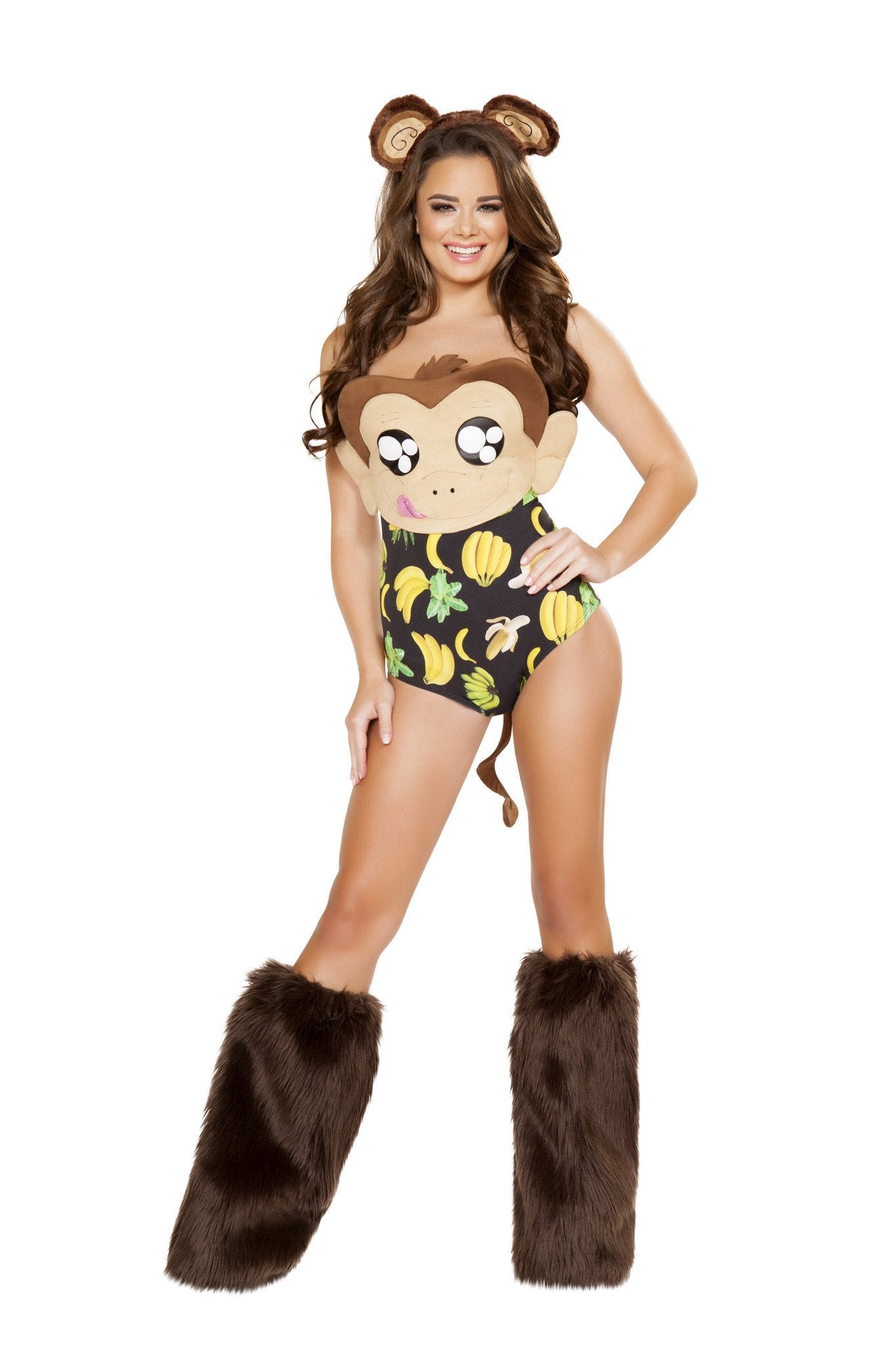 Banana Loving Monkey costumes Size M/LColor BrownNakees