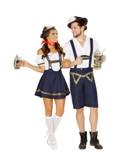 Bavarian Beauty Octoberfest Beer Girl costumes Size SmallColor Blue/WhiteNakees