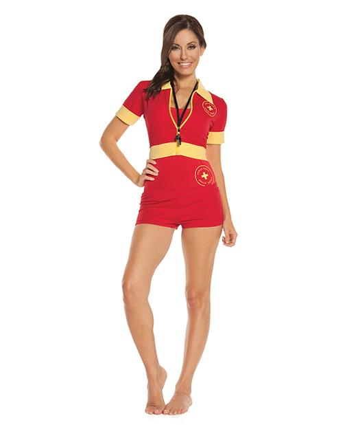 Beach Patrol Lifeguard Costume-costumes-Elegant Moments-small-red-Nakees