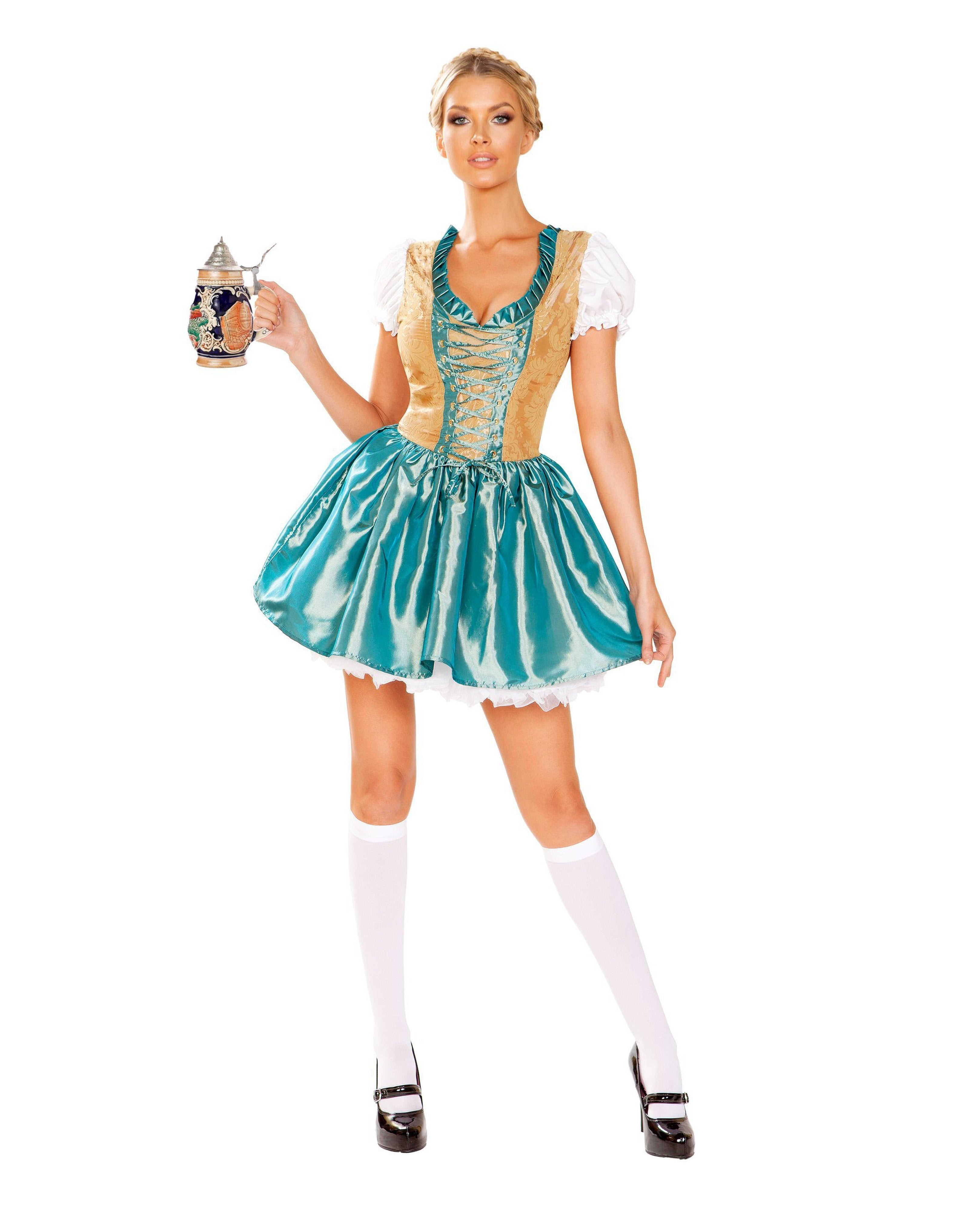 Beer Girl costumes Size SmallColor Blue/GoldNakees