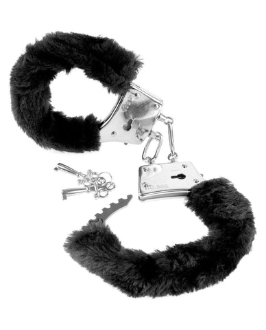 Beginners Furry Handcuffs sex toys color black  Nakees