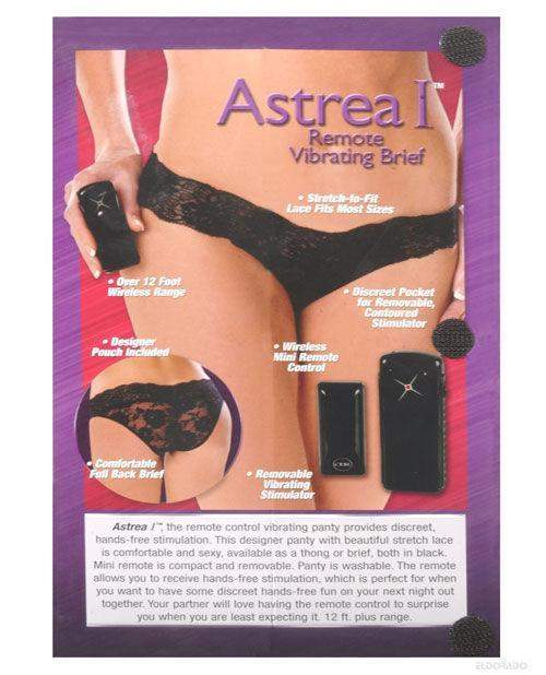 Berman Astrea Remote Vibrating Underwear women color blackstyle briefNakees