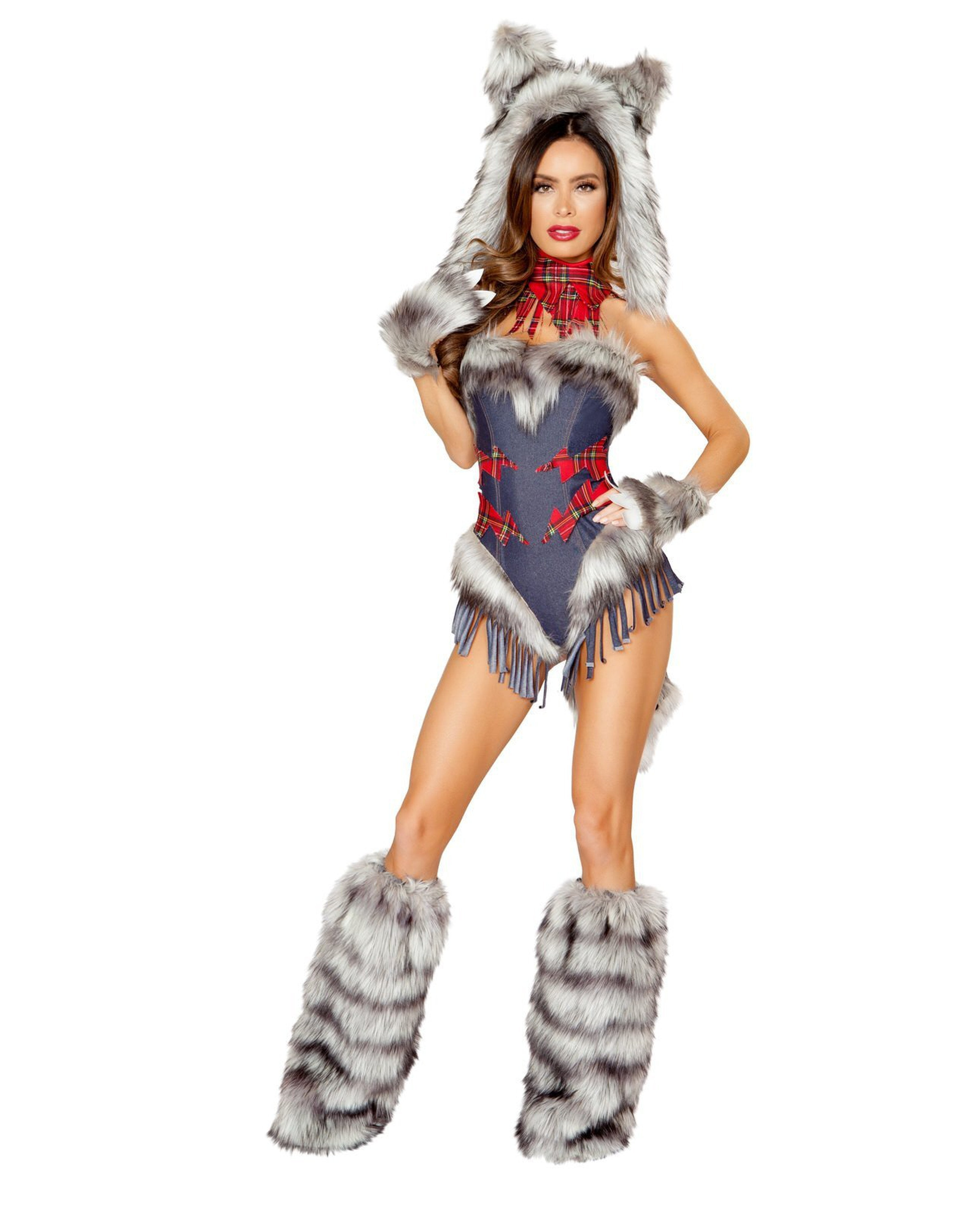 Big Bad Wolf Costume costumes Size SmallColor Blue/Grey/RedNakees