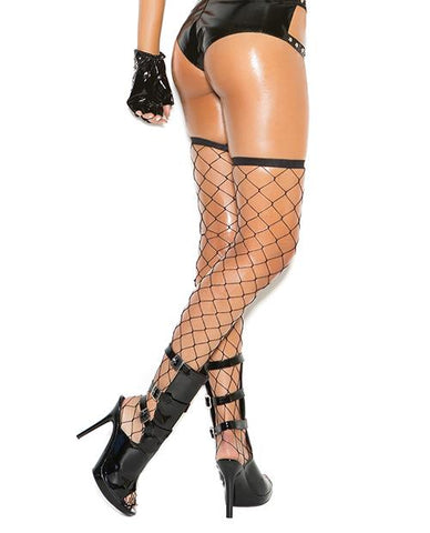 Big Diamond Net Thigh Highs lingerie size one size color black Nakees