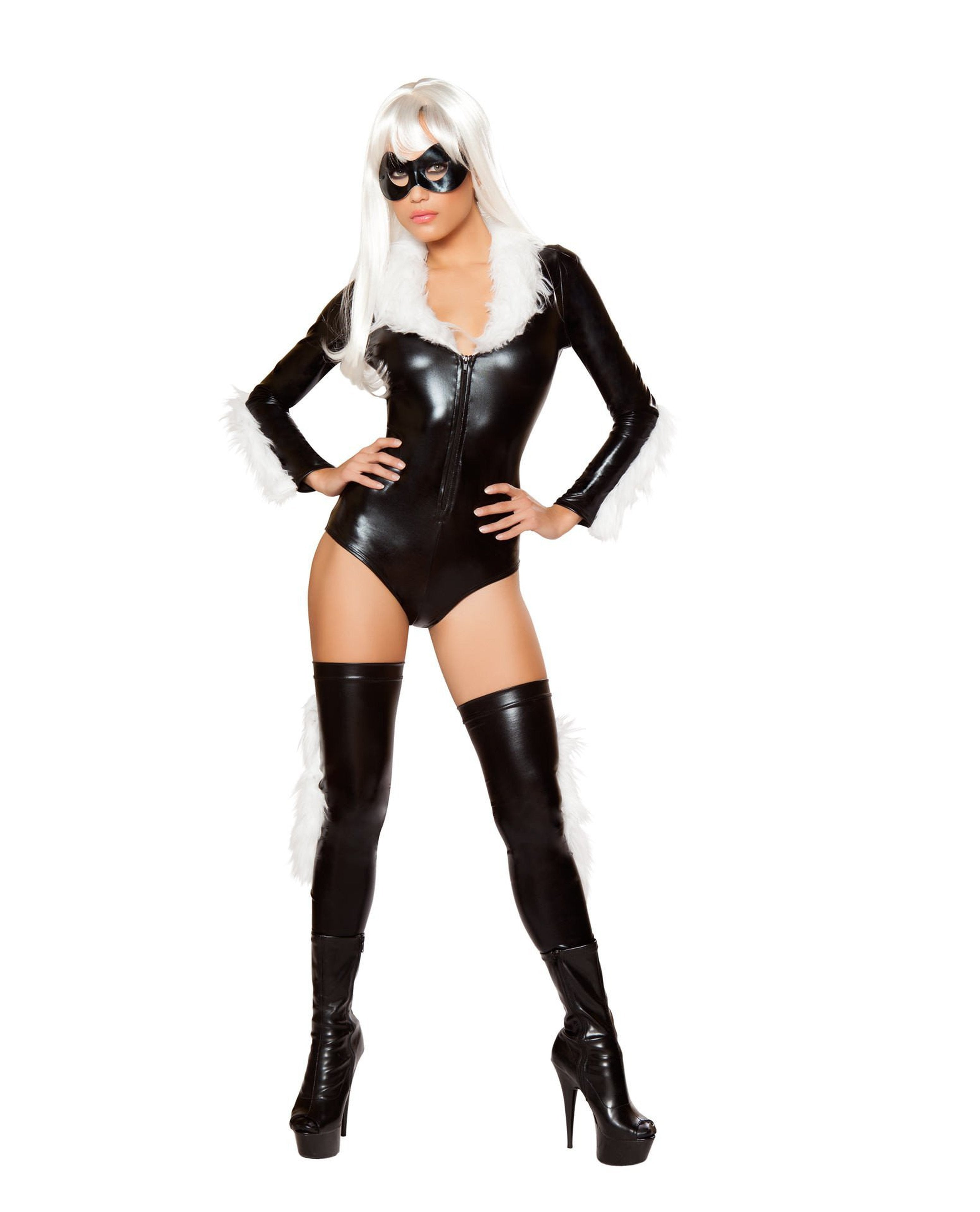 Black Cat Spider Costume-costumes-Roma Costume-Small-Black/White-Nakees