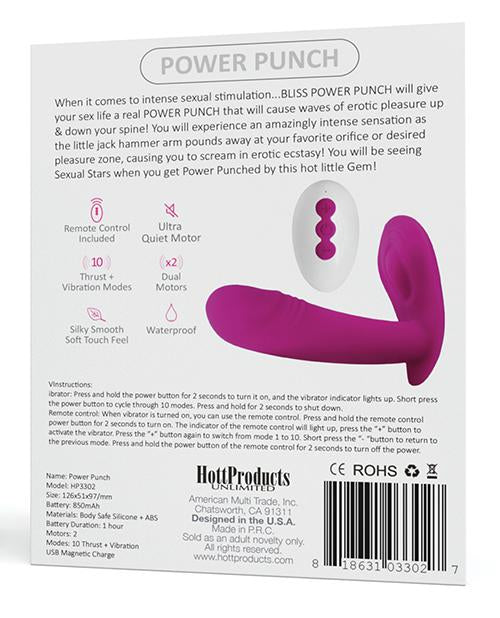 Bliss Power Punch Thrusting Vibe-rabbit vibrator-Hott Products-Nakees