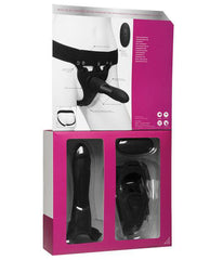 Body Extensions Be In Charge Vibrating 2 Piece Strap On Set-Body Extensions-black-Nakees
