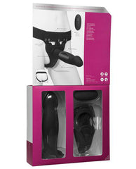 Body Extensions Be Risque Vibrating 2 Piece Strap On Set-Body Extensions-black-Nakees