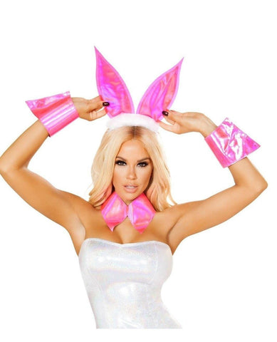 Bunny Costume Accessory Set-Costumes, accessories-Roma Costume-One Size-Pink-Nakees