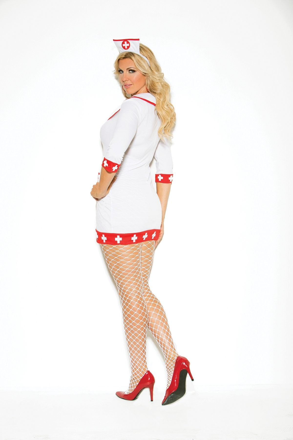 Cardiac Arrest Sexy Nurse Costume costumes size mediumcolor red/whiteNakees