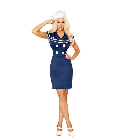 Classy Sailor Costume-Costumes-Roma Costume-Small-Blue/White-Nakees