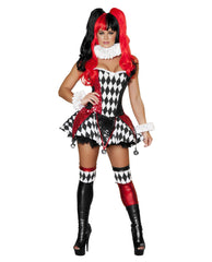 Court Jester Cutie costumes Color Black/Red/WhiteSize SmallNakees